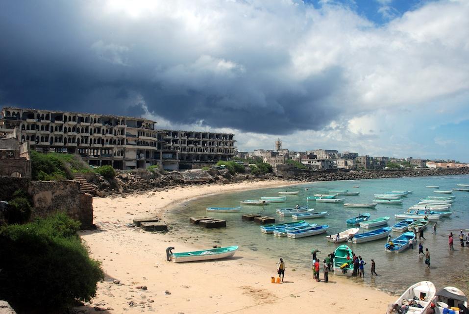 Mogadishu Port in Somalia.