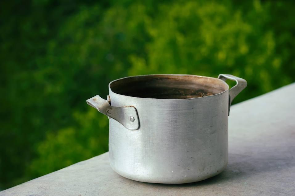 Old metal pan