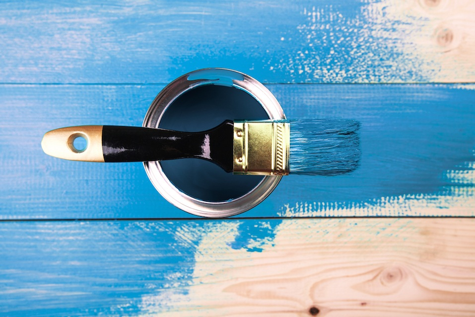 Painting in a blue color