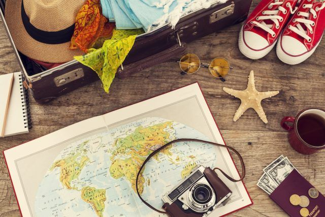 Planning vacation with map