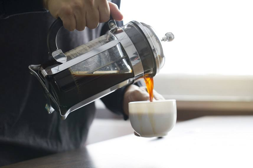 Man pouring coffee