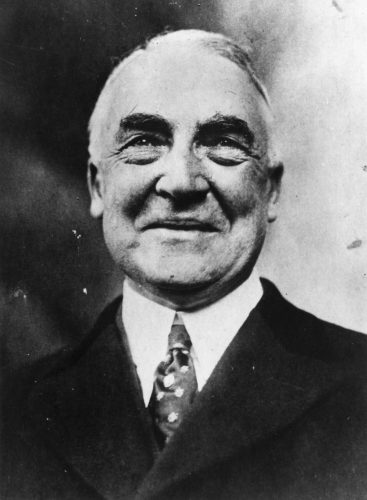 President Harding in a black and white portrait.