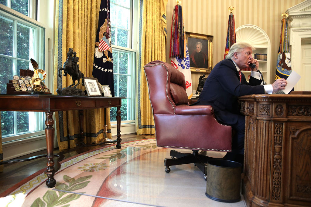 President Donald Trump in the Oval Office