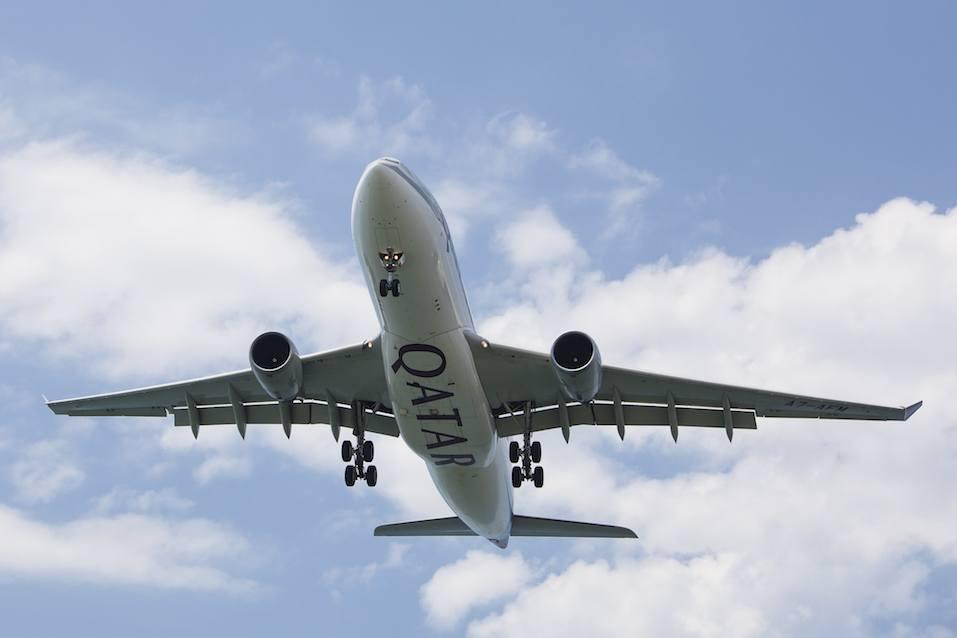 Qatar Air Craft Landing