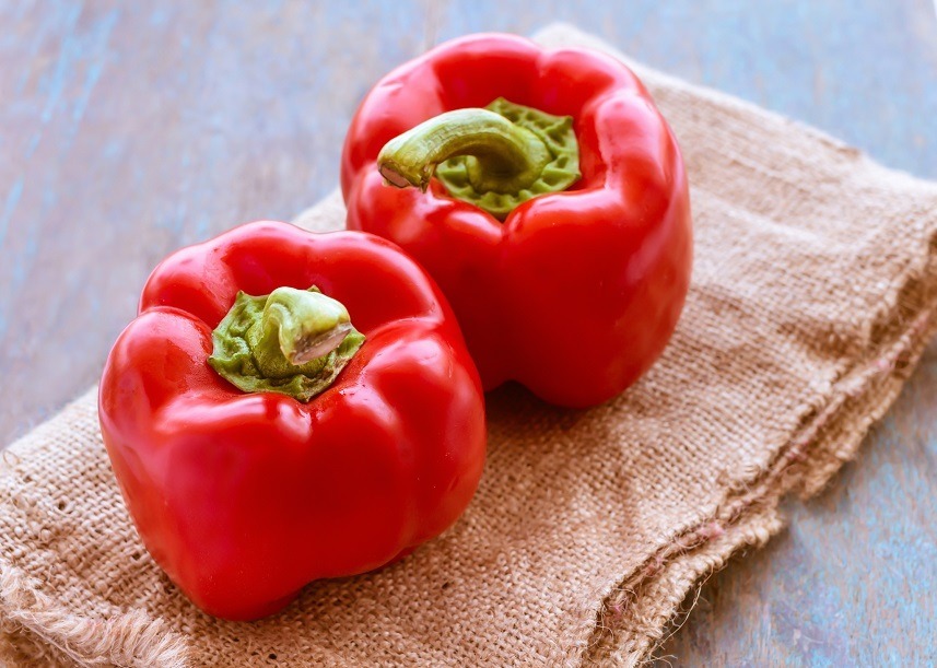 organic red bell peppers