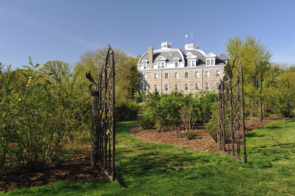 Gate of Dean Bond Rose Garden in Swarthmore College