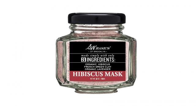 The Best Vegan Beauty Products Hibiscus Mask from S.W. Basics