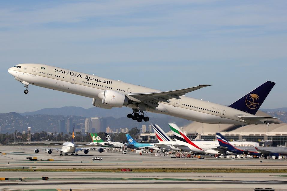 Saudia Boeing 777-300 airplane