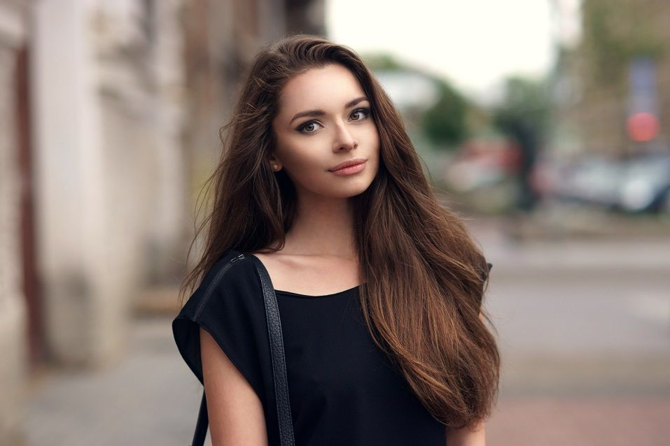 young beautiful elegant woman