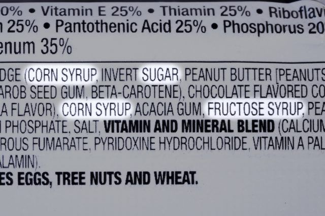 Sugar label
