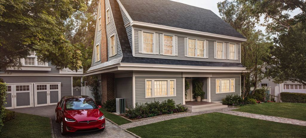 Tesla Model X, Powerwall, and Solar Roof