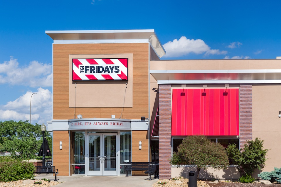 TGI Fridays exterior and logo
