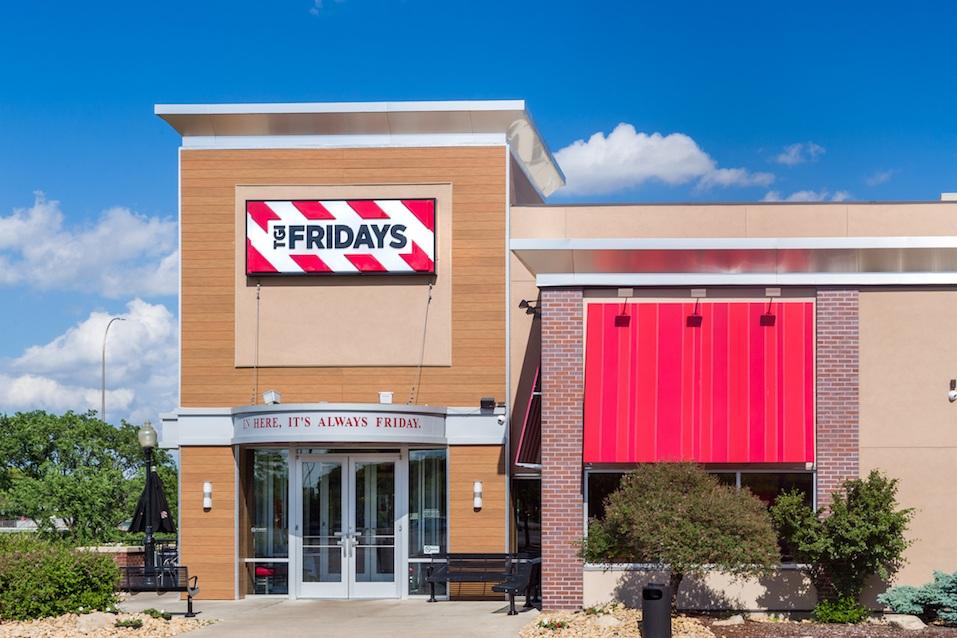 TGI Fridays exterior and logo