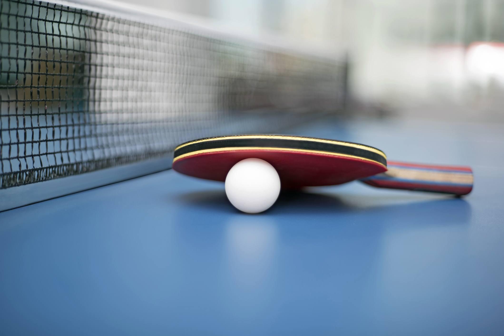 Table Tennis Ball and Bat