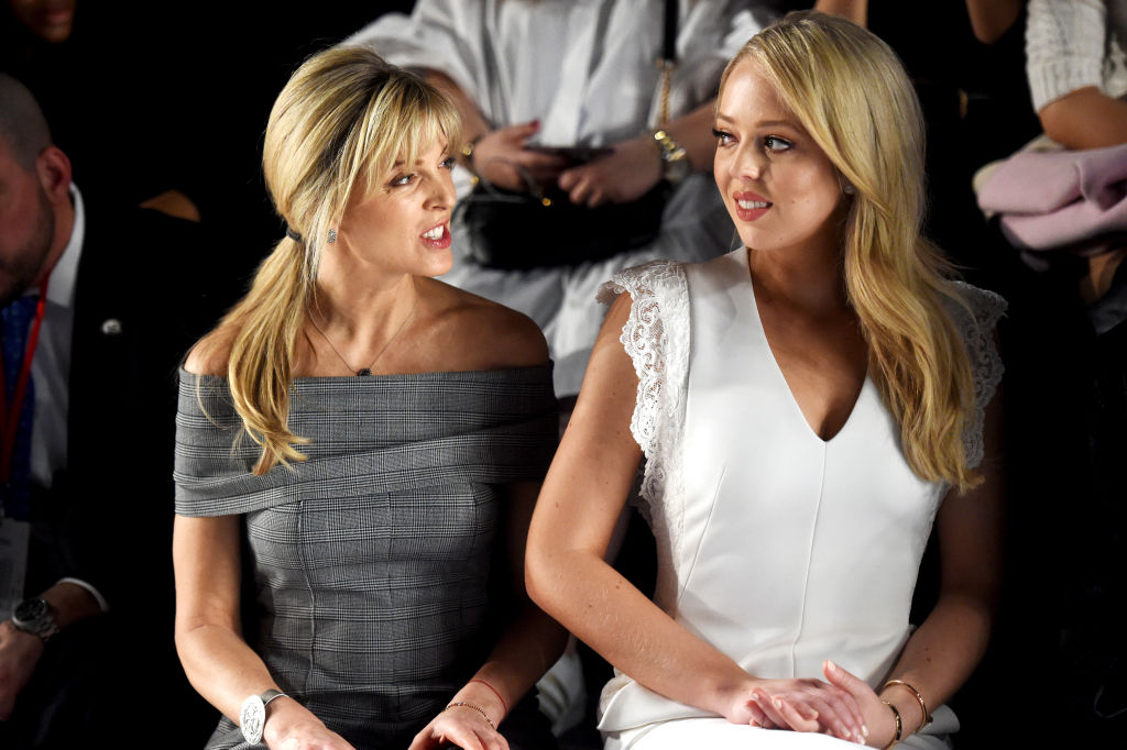 Marla Maples (L) and Tiffany Trump attend the Taoray Wang collection