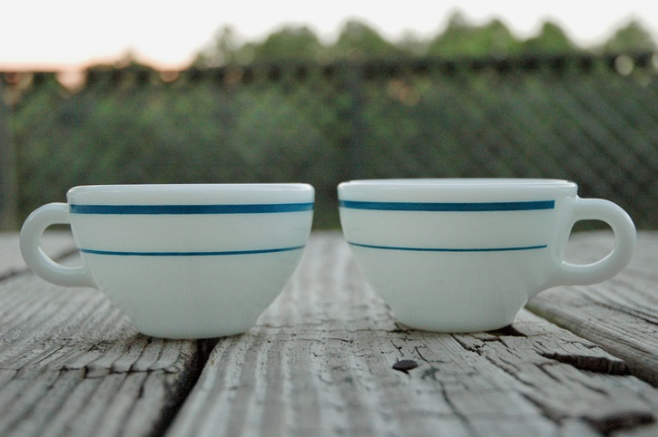Teacups Side by Side
