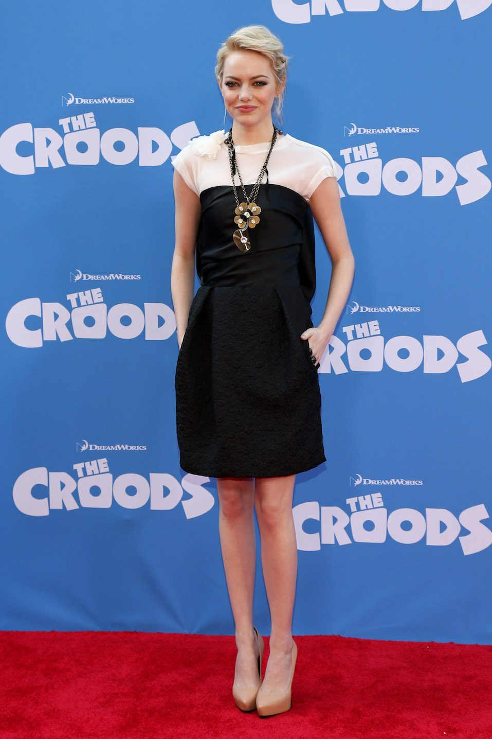 "Actress Emma Stone attends ""The Croods"" premiere"