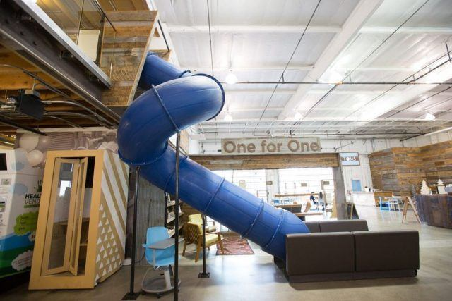 Tom's office, indoor slide