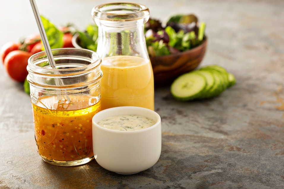 Variety of sauces and salad dressings