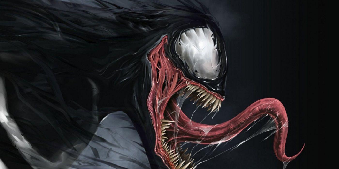Venom sticks out his monstrous tongue in Marvel Comics