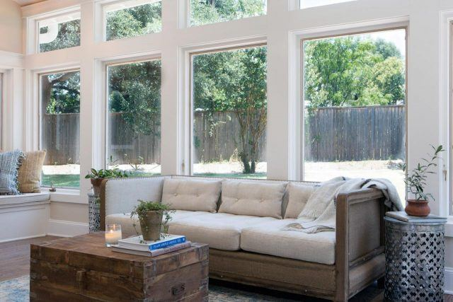 White upholstery in a home on HGTV's 'Fixer Upper'