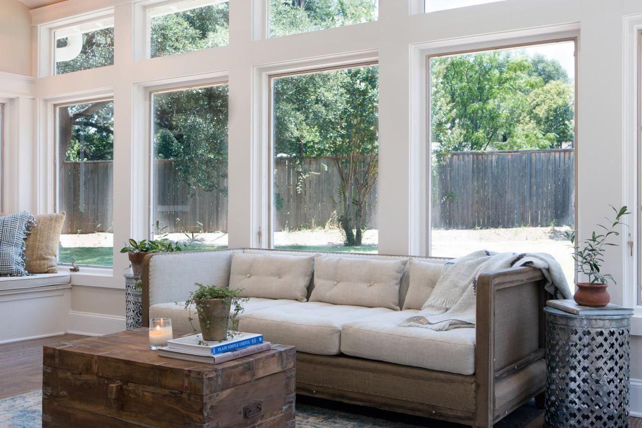 White upholstery in a home on HGTV's 'Fixer Upper'