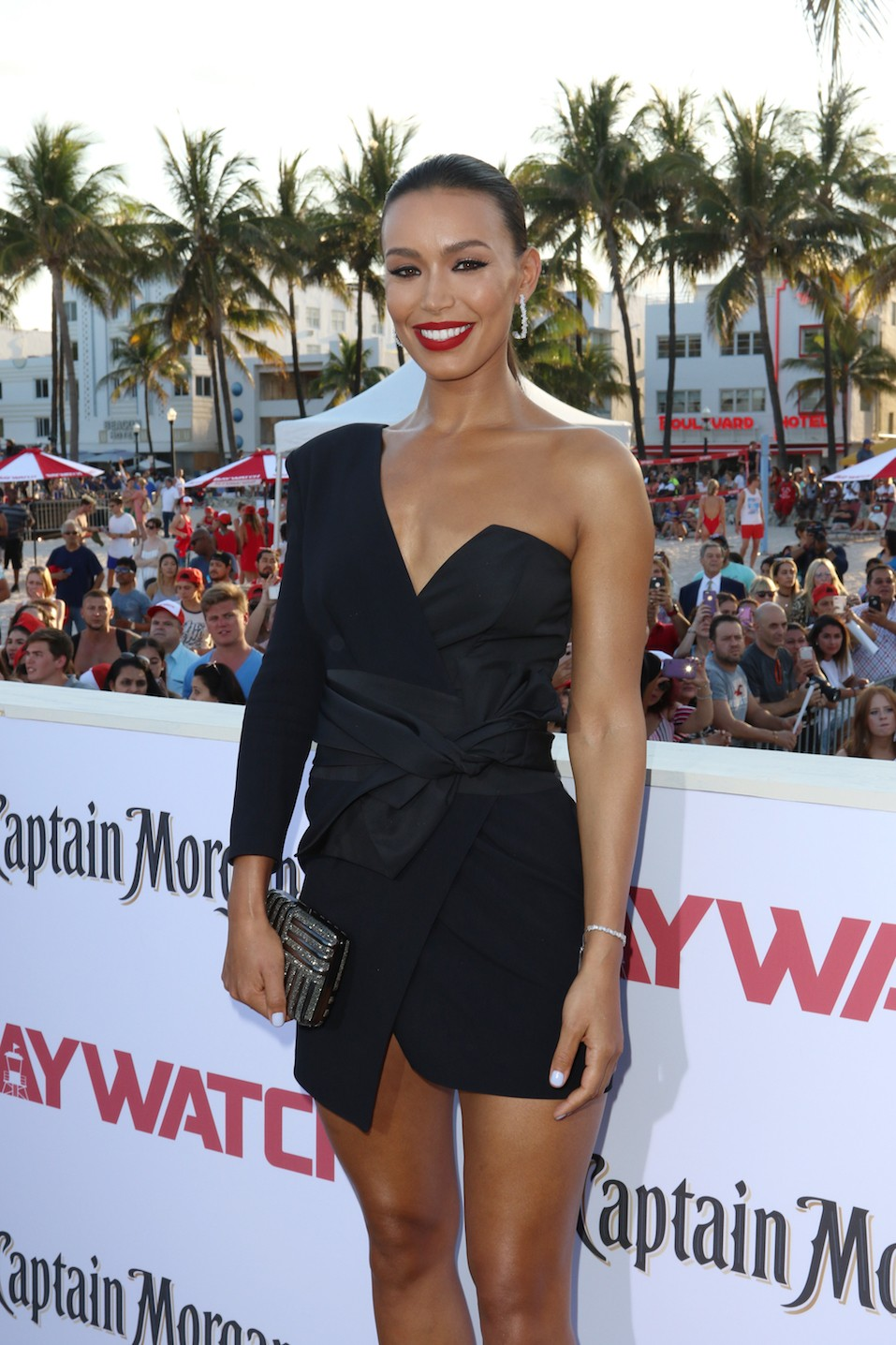 Ilfenesh Hadera attends the world premiere of Paramount Pictures film 'Baywatch' at South Beach