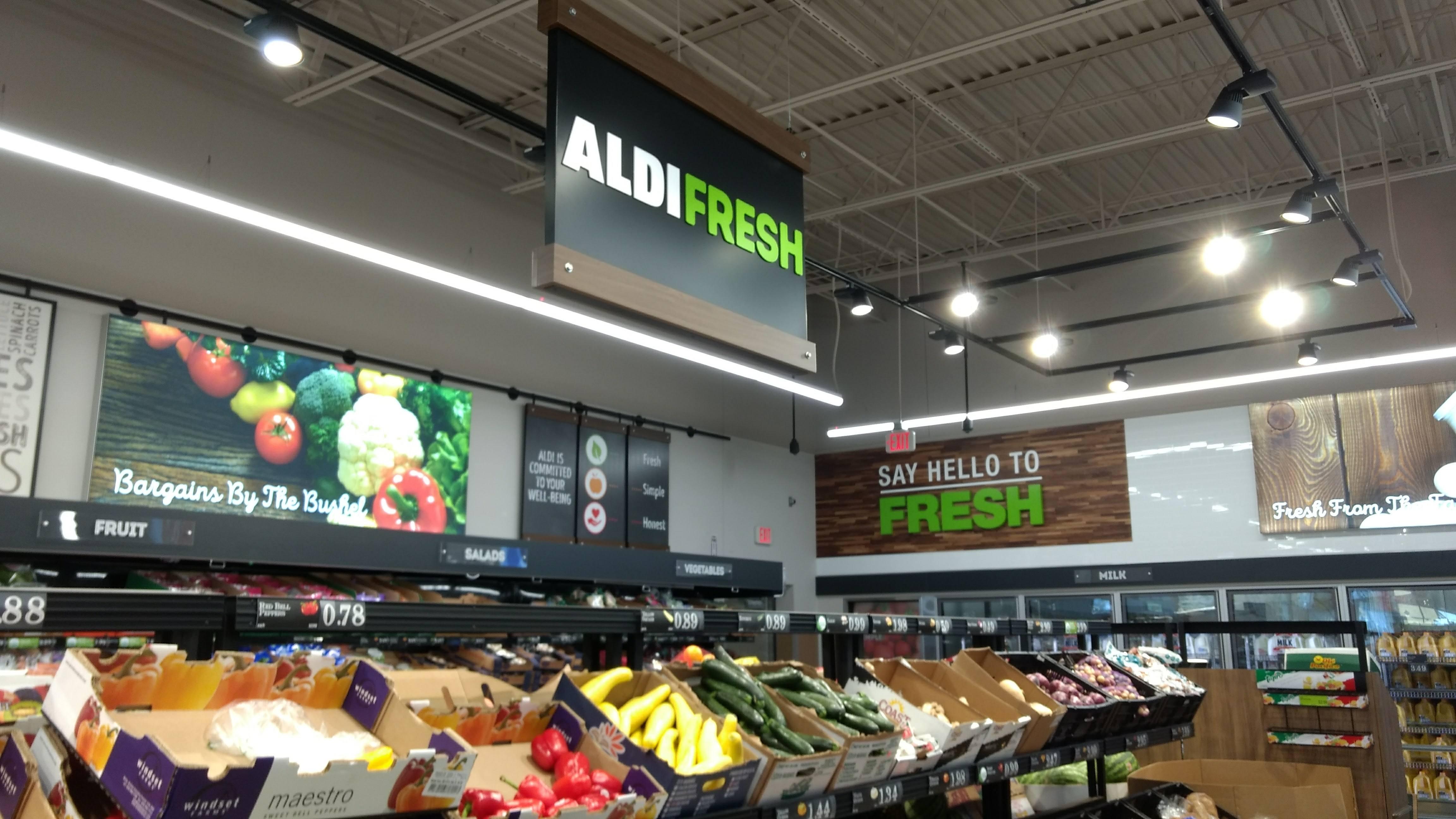 aldi produce section