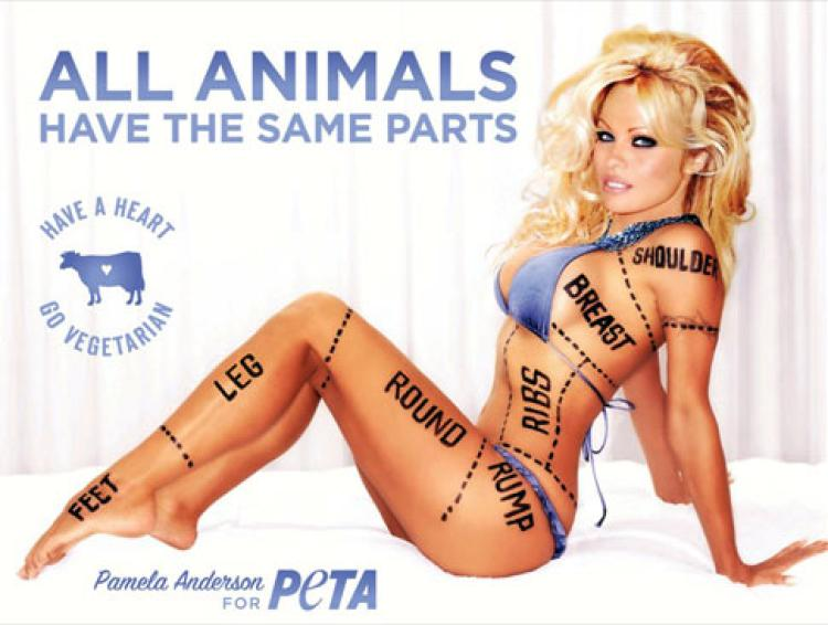 Pam Anderson in a PETA ad