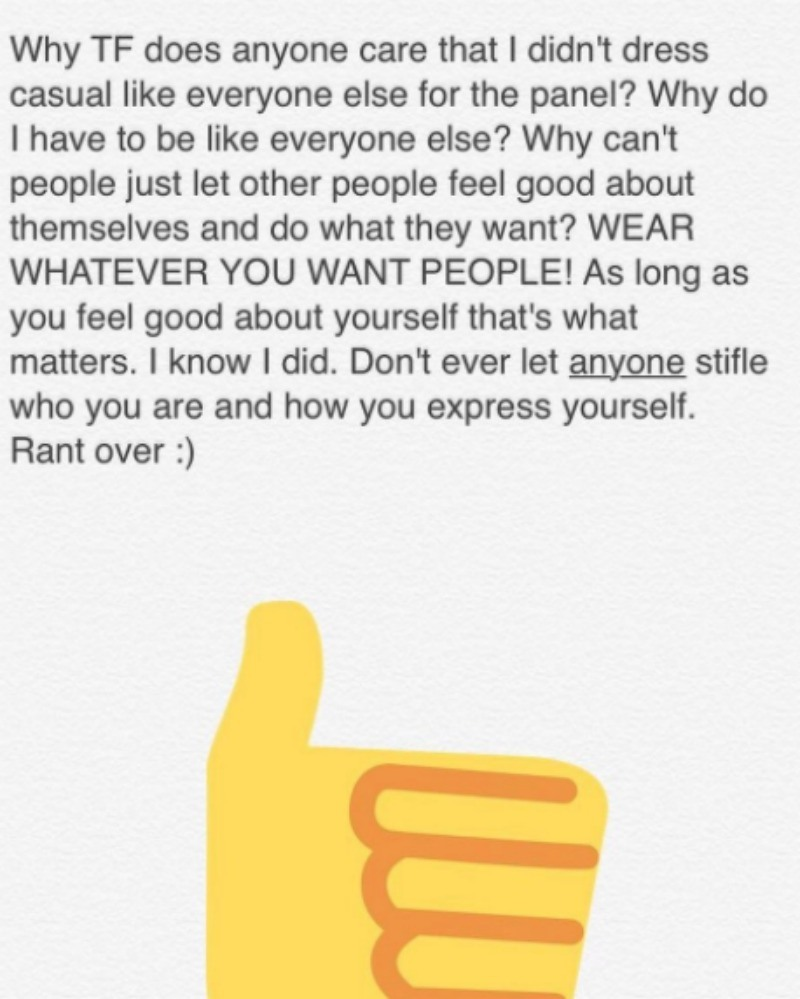 This is a screen grab of Ariel Winter's message on Instagram.
