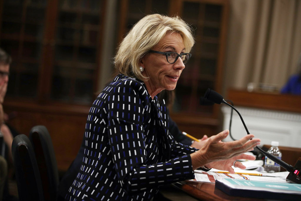 Secretary of Education Betsy DeVos testifies