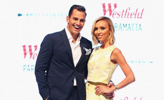 TV host Guiliana Rancic and Bill Rancic pose during the Westfield Spring/Summer campaign at Westfield Parramatta Centre on September 23, 2014 in Sydney, Australia.
