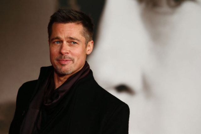 Brad Pitt on a red carpet.