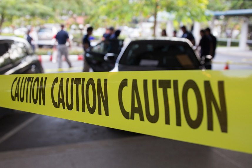 crime scene for vehicle search