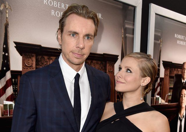 """Actors Dax Shepard and Kristen Bell attend the Premiere of Warner Bros. Pictures and Village Roadshow Pictures' """"The Judge"""" at AMPAS Samuel Goldwyn Theater on October 1, 2014 in Beverly Hills, California."""