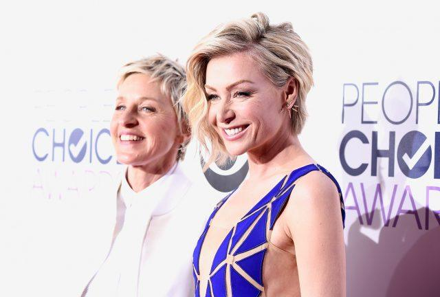 TV personality Ellen DeGeneres and actress Portia de Rossi attend The 41st Annual People's Choice Awards at Nokia Theatre LA Live on January 7, 2015 in Los Angeles, California.