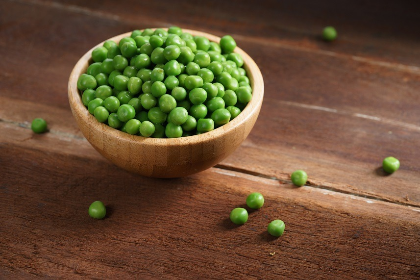 Green peas are extremely high in protein per serving.