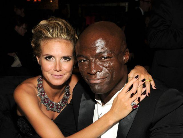 Model Heidi Klum and singer Seal.