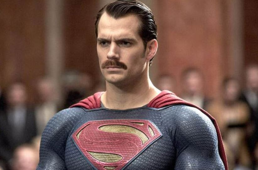 A doctored image of Henry Cavill as Superman