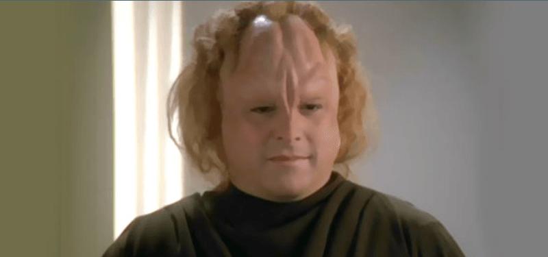 Jason Alexander appears as an alien in Star Trek.