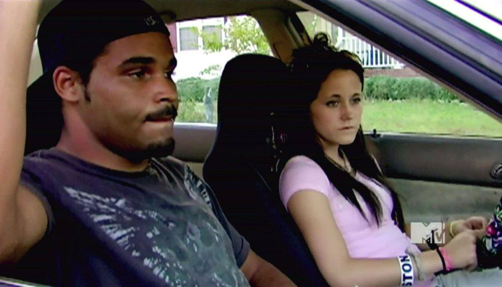 Kieffer and Jenelle sit in a car