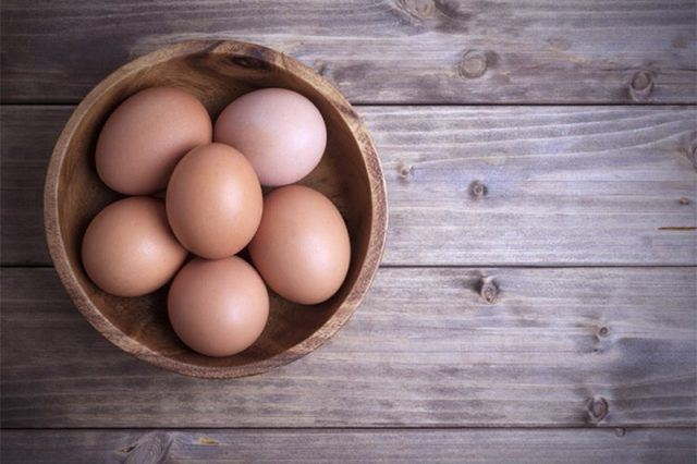a bowl of eggs, captured by Julianne Hough