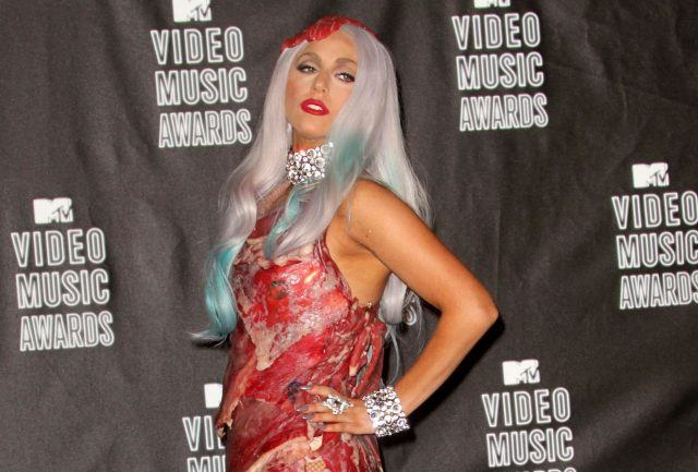 Singer Lady Gaga poses in the press room during the MTV Video Music Awards at NOKIA Theatre L.A. LIVE on September 12, 2010 in Los Angeles, California.