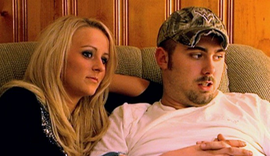 Leah Messer and Corey Simms sitting next to each other