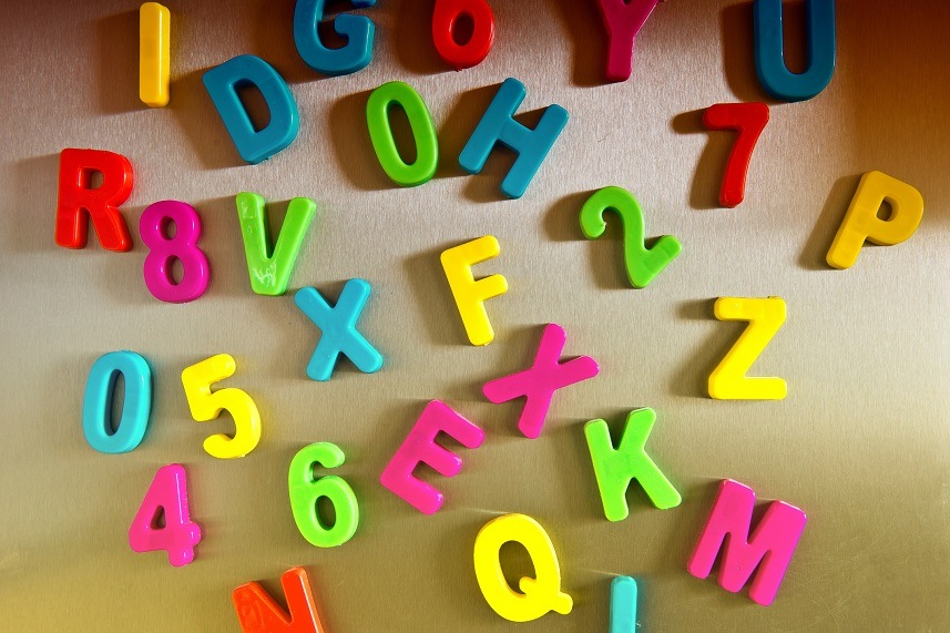 Colorful magnetic letters