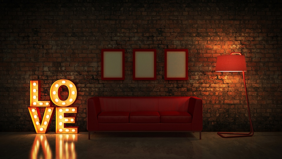 marquee light love letter sign