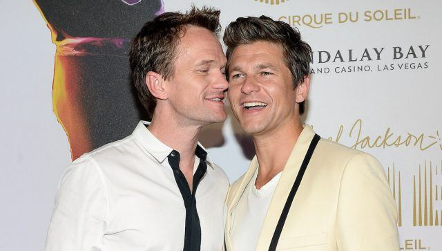 "Actors Neil Patrick Harris and David Burtka arrive at the world premiere of ""Michael Jackson ONE by Cirque du Soleil"" at THEhotel at Mandalay Bay on June 29, 2013 in Las Vegas, Nevada."