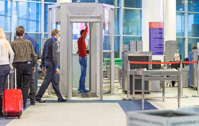 people in the hall of the airport