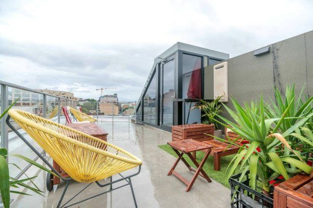 outdoor space at Airbnb's Syndey, Australia office