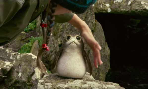 A porg, as seen in the sizzle reel for 'Star Wars: The Last Jedi'.